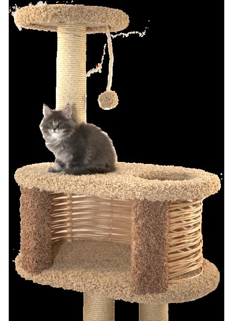 """Комплекс для кошек с домиком """"Избуся"""""""