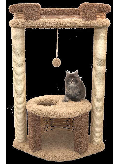 """Игровой комплекс с домиком для кошек """"Ушастик"""""""